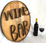 RING ART Collection - Wine Bar - Wine Barrel Head Sign