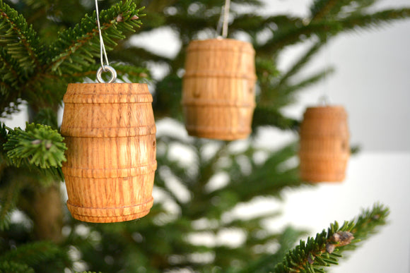 HOLIDAY - Wine Barrel Ornaments (set of 3)