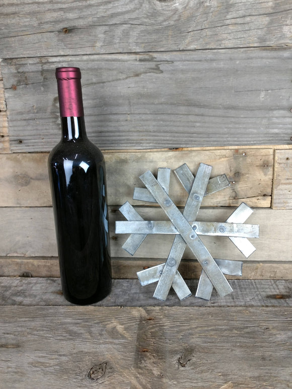 HOLIDAY - Snowflake - Wine Barrel Ring Ornaments