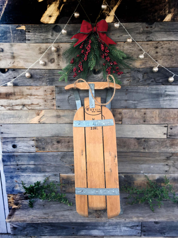 HOLIDAY -  Sanki - Wine Barrel Sled Decoration