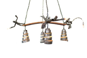 WINE BOT Collection - Mayhem - Barrel Ring Chandelier