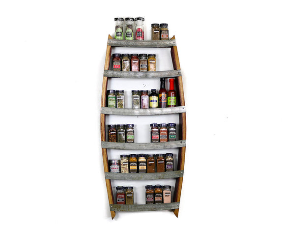 SPICE RACK Collection - Thyme - Large Wine Barrel Spice Rack