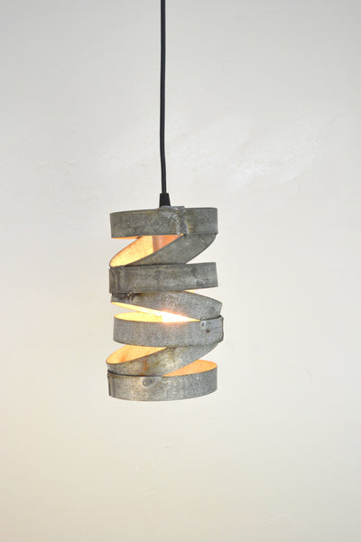 "VITALI Collection - ""Tala"" - Wine Barrel Ring Staggered Pendant Light made from salvaged Napa wine barrel rings - 100% Recycled!"