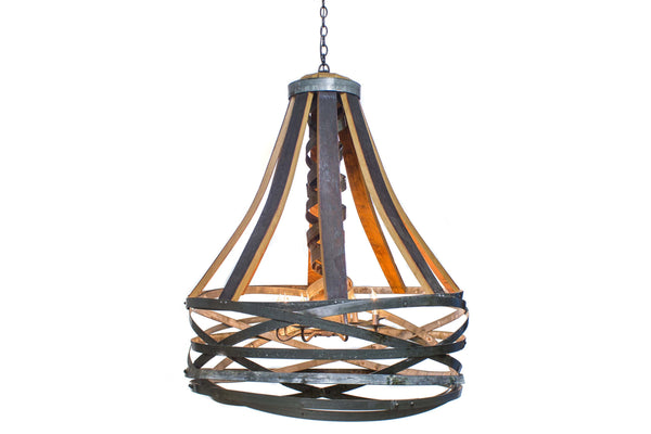 CRAFTSMAN Collection - Kosara - Wine Barrel Basket Chandelier