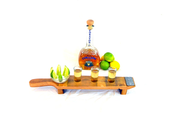 SAMPLER - Tolu - Wine Barrel Tequila Serving tray
