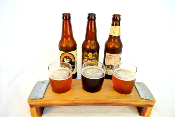 SAMPLER - Ragar - 3 Glass Wine Barrel Beer Flight