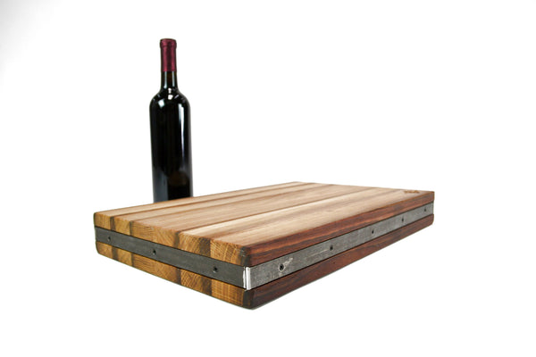 The  Tarik - Wine Barrel Cutting Board - Chopping - Charcuterie board