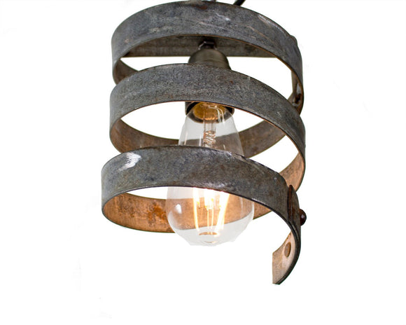 Wine Barrel Ring Pendant Light - VITALI Collection -