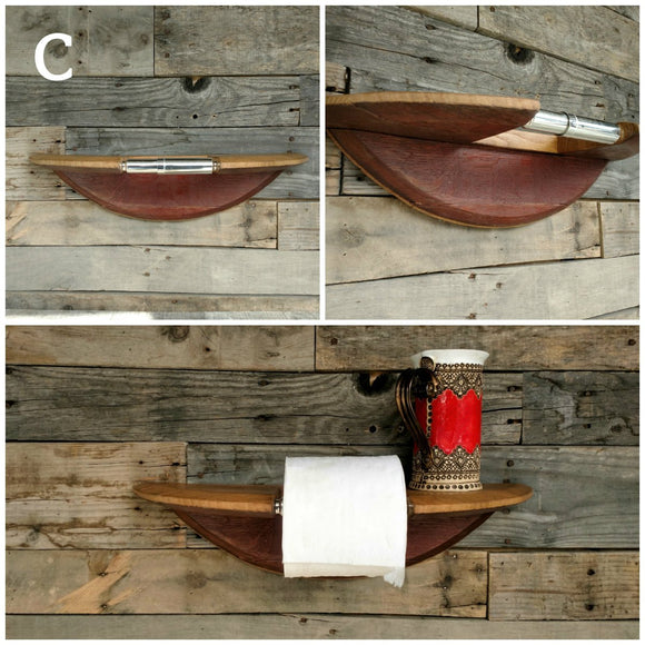 ORGANIZATION Collection - Legna - Wine Barrel Toilet Paper Holder