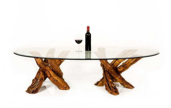 "VINYA Collection - ""Roussanne"" - Old Vine - Grapevine Coffee Table"