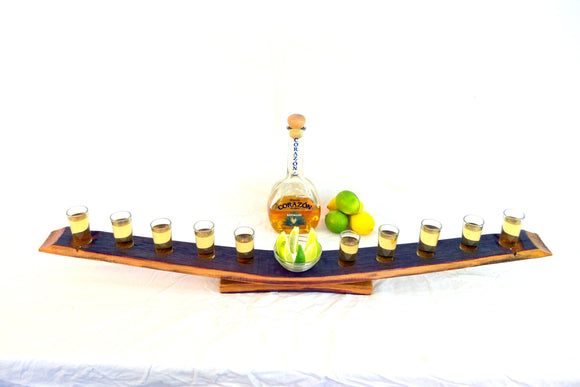 SAMPLER - Kumi - Wine Barrel Tequila Serving Sampler Tray
