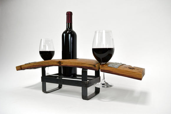WINE FLIGHT - Zabibu - 2 Glass Wine Flight and Glass holder