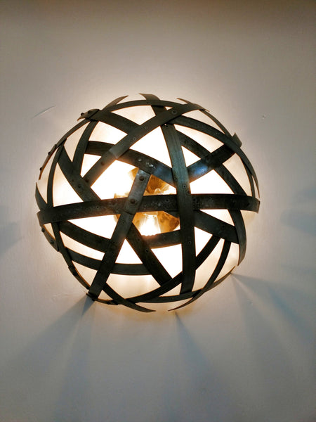 SAFARI Collection - Kansi - Wine Barrel Ring Sconce or Flush Mount Light