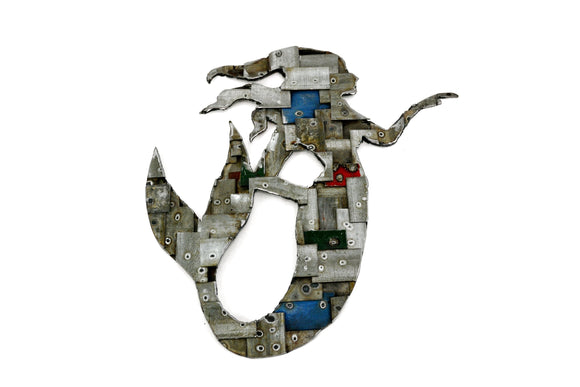 WELDED BARREL RING Collection - Mermaid Mosaic - Wine Barrel Ring Wall Art