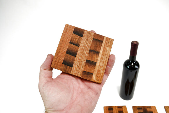 COASTERS - Kubi - Wine Barrel Coasters