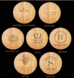 BARREL ART Collection - Custom Engraved Lazy Susan - Personalized Lazy Susan