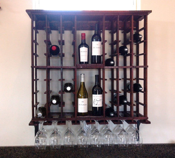 WINE RACK Collection - Touraine - Hanging Wine Rack made from reclaimed Wine Tank staves - 100% Recycled!