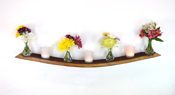 Wisteria - Wine Barrel Floating Wall Candle or Vase Holder