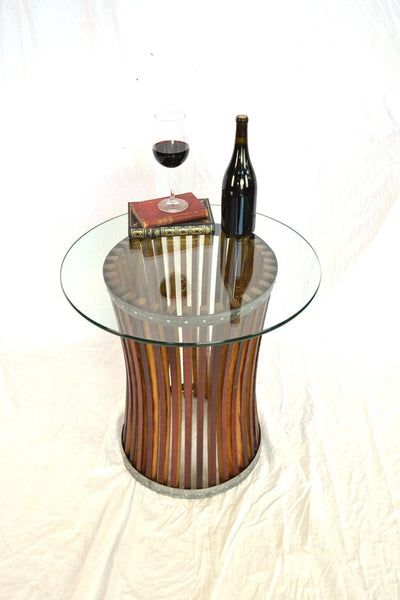 CRAFTSMAN Collection- Ardesia - Wine Barrel Side Table
