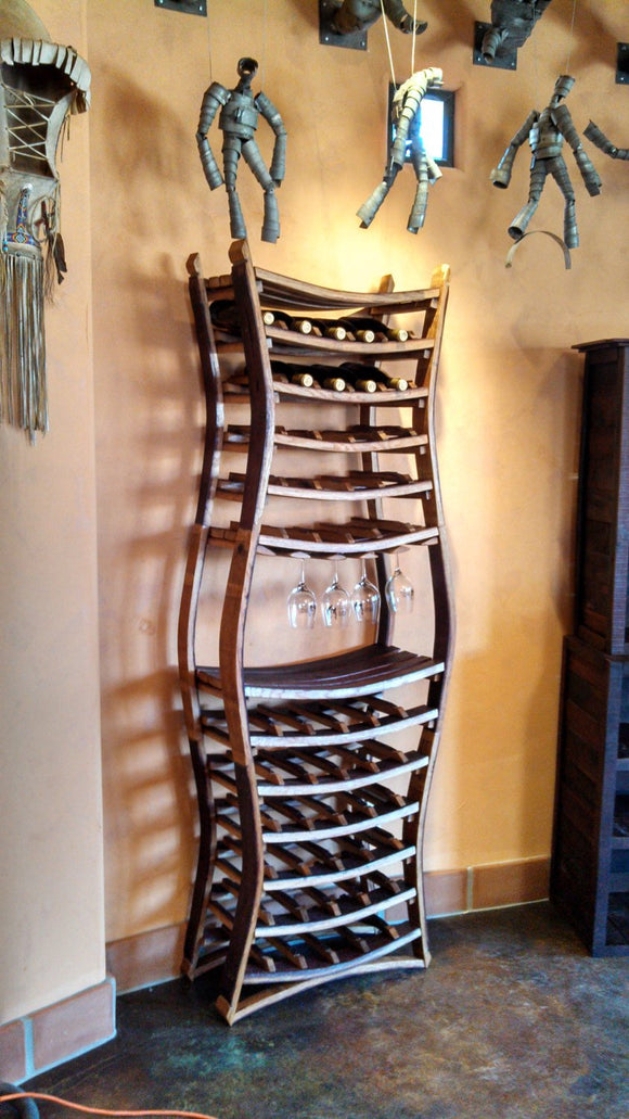 WINE RACK Collection - Hour Glass - Large Wine Rack