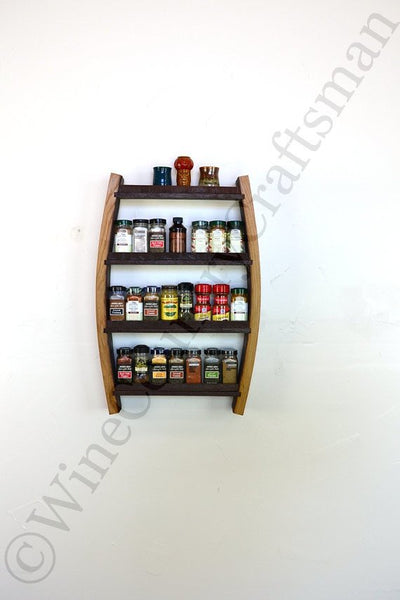 SPICE RACK Collection - Sage  Small Wine Barrel Spice Rack