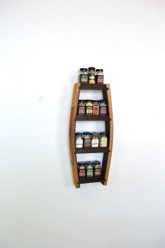 SPICE RACK Collection - Parsley - Extra Small Wine Barrel Spice Rack