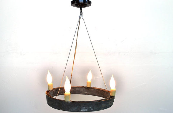 HALO Collection - Atrina - Wine Barrel Ring Chandelier