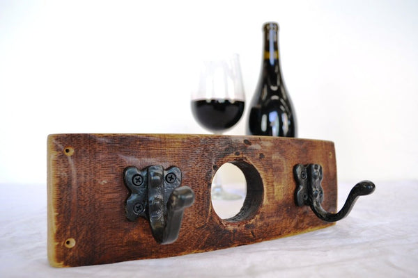 ORGANIZATION Collection - Mini Niknak - Wine Barrel  Coat, Key, or Towel Rack