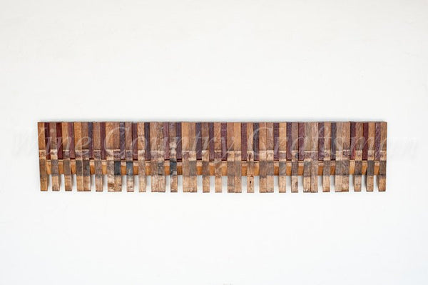 BARREL ART Collection - Piano Keys - Wine Barrel Art Piece
