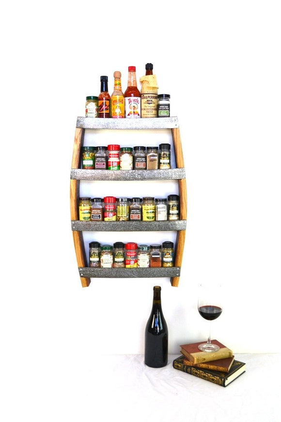 SPICE RACK Collection - Rosemary - Wine Barrel Spice Rack