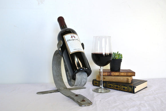 Counter-Top Wine Barrel Bottle Holder -made from retired Napa wine barrel rings -  100% recycled!  PORTA -