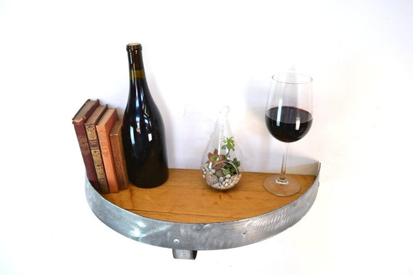 Polowa - Wine Barrel Head Shelf