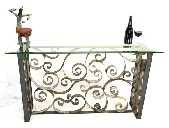 RAIMENT Collection - V1 Regalia - Wine Barrel Ring Entry or Sofa Table