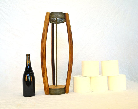 ORGANIZATION Collection - Komuna - Wine Barrel Toilet Paper Holder