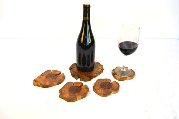 COASTERS - Ensemble - set of 4 + one XL for bottle