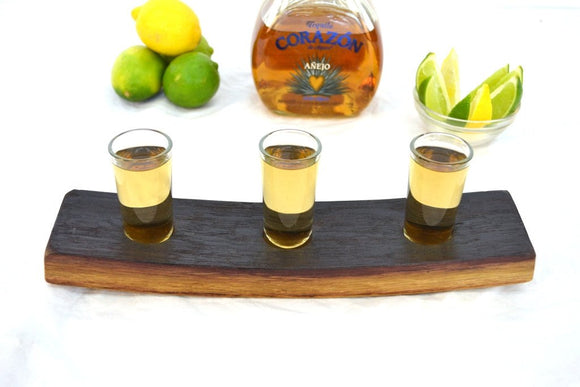 SAMPLER - Jalisco - Wine Barrel Tequila Serving Tray