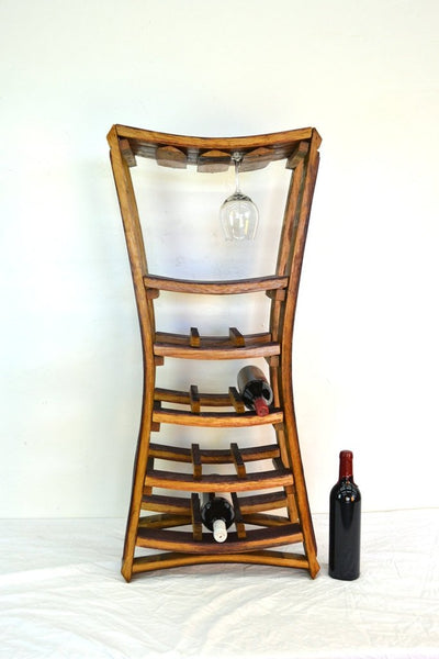 WINE RACK Collection- Estrecho - Large Narrow Wine and Glass Rack