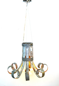 BLOOM Collection - Fleur - Wine Barrel Ring Chandelier