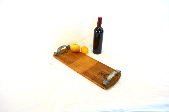 SERVING TRAY - Frammenti - Wine Barrel Head Serving Charcuterie Tray