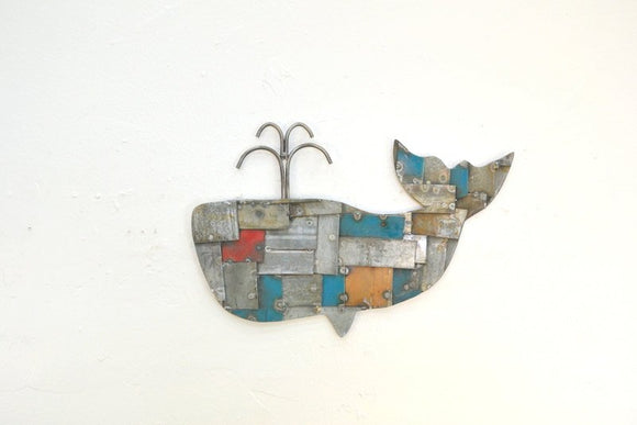 WELDED BARREL RING Collection - Whale of a Tale - Wall Art