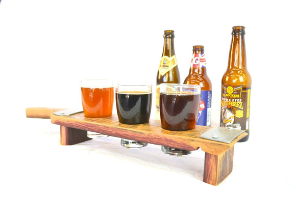 SAMPLER - Kena - 3 Glass Wine Barrel Stave Beer Flight
