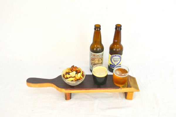 SAMPLER -  Domo - 2 Glass Wine Barrel  Beer Flight with Snack bowl