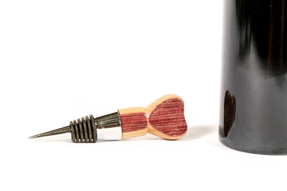 STOPPER - Love - Wine Barrel Heart Bottle Stopper