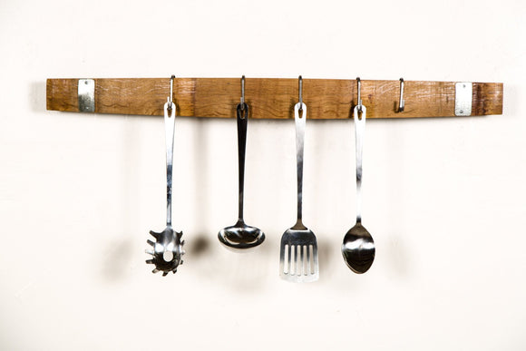 ORGANIZATION Collection - Boleh - Wine Barrel Stave  Utensil &  Pot Rack