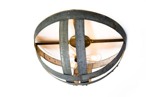 ATOM Collection - Hemisphere - Wine Barrel Flush Mount Light
