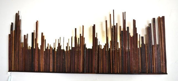 "Wine Barrel Wall Art - CITY ""Urbs"" - made from reclaimed Napa wine barrels - 100% Recycled!"