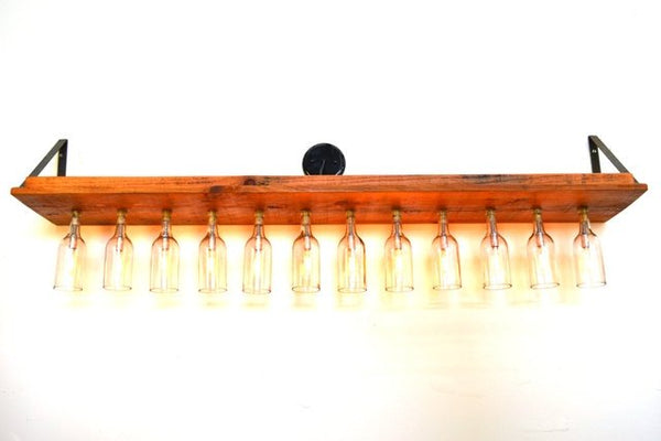 RUSTIC Collection - Luceat - Reclaimed Barn Wood and Wine Bottle Vanity Light