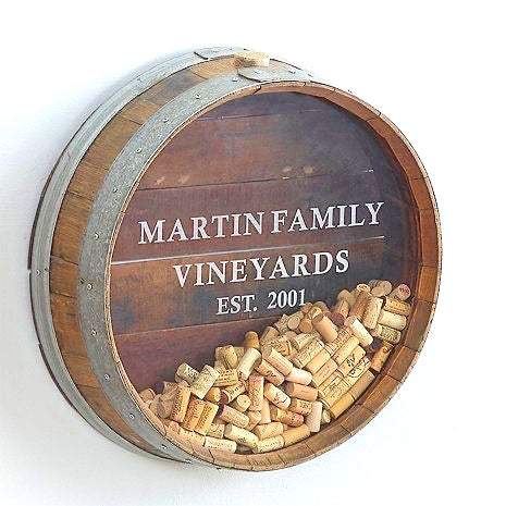Kala - Wall Mounted Wine Barrel Cork Display