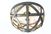 ATOM Collection - Orbis - Wine Barrel Ring Flush Mount Light