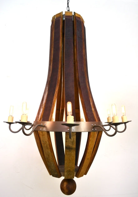 CRAFTSMAN Collection - Lacta - Wine Barrel Teardrop Chandelier
